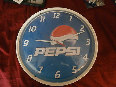 Pepsi Advertising Clock, Used Scratched And Discolored Face And Body