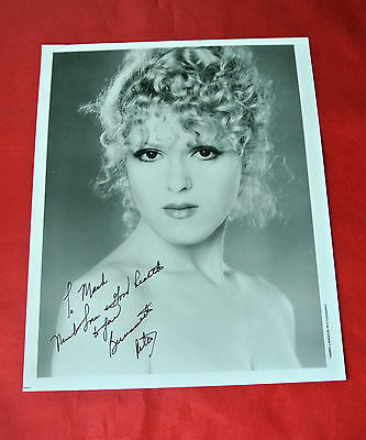 Bernadette Peters Autographed Signed Broadway Play Photo Rare Must See!!!