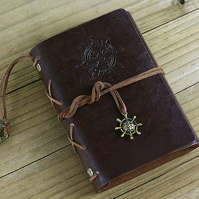 Classic Vintage Retro Leather Journal Travel Notepad Notebook Blank Diary MT
