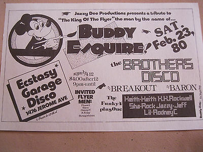Rare Flyer.the King Of The Flyer Buddy Esquire/bros Disco/funky 4 Plus 1