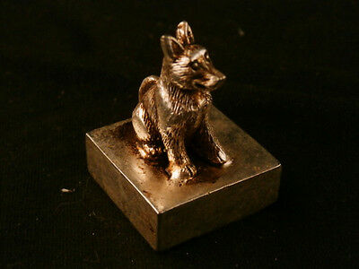 Collectible Antique Chinese Hand Made Metal *Fox* Seal A118