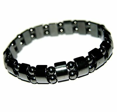 "Magnetic hematite bracelets black 7"" women's lady's"