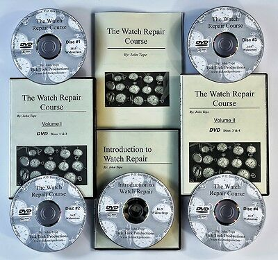 NEW Watch repair courses on widescreen DVD video! 5 DVDs + manual.
