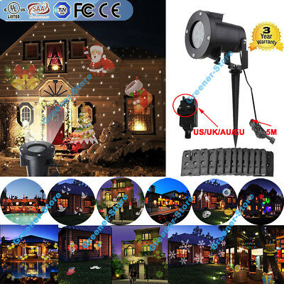 In/ Outdoor 48 Patterns Moving LED Laser Projector Light Garden Xmas Party Lamp