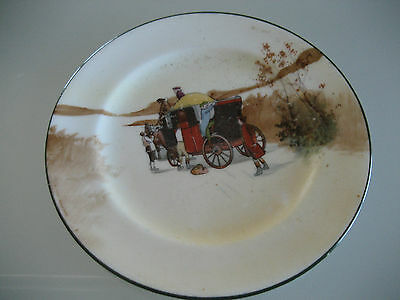 Vintage Royal Doulton E3804 Coaching Days Plate