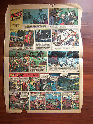 Vintage Roy Rogers Dick's Adventures Rusty Riley Newspaper Comic Page Kix Cereal