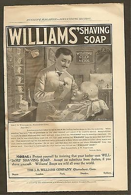 Vintage (1899) Williams' Shaving Soap Ad From Munsey's Magazine