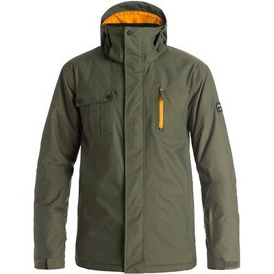 Quiksilver Mission Mens Jacket Snowboard - Forest Night All Sizes