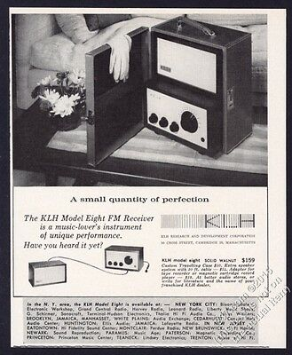 1962 KLH model Eight 8 FM radio and speaker in traveling case photo vintage ad