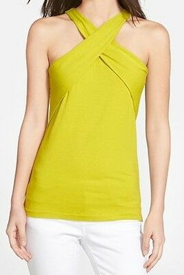 Vince Camuto NEW Citrone Green Women's Size Small S Halter Neck Top $54- #206