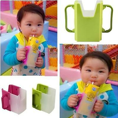 Baby Child Juice Pouch Milk Box Water Drinking Bottle Cup Holder Adjustable LG