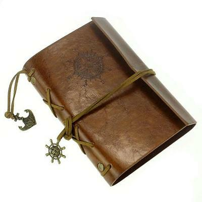 Classic Vintage Leather Journal Travel Notepad Notebook Blank Diary Gift - LD