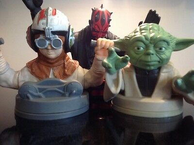 Star Wars Episode 1 cup toppers 1999 Taco Bell Pizza Hut Darth Maul Anakin Yoda