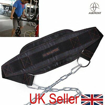 Pro Dipping Belt Body Building Weight Dip Lifting Chain Exercise GymTraining UK