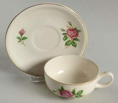 Paden City Pottery RED ROSE Cup & Saucer 825269