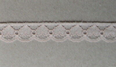 CRAFT-SEWING-LACE 12mm Pale Pink Heart Design Lace (metre varieties available)