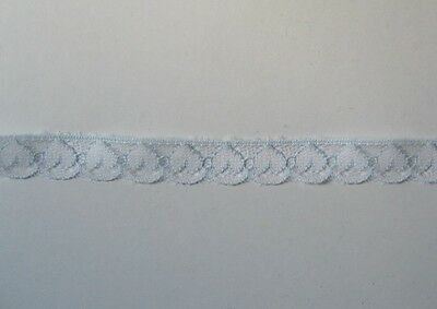 CRAFT-SEWING-LACE 12mm Pastel Blue Heart Design Lace (metre varieties available)