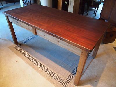 Table Edwardian school refectory dining table c1910