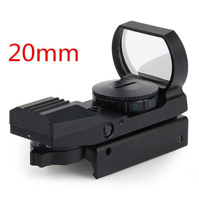Hunting Tactical Reflex Holographic Red Green Reticle Sight Dot Rail Mount 2016