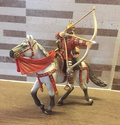 Papo Horse And Archer Mounted Figure Knights Castle