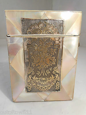 Antique Mother of Pearl Card Case    ref 1375