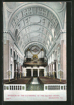 AK Richmond, VA, Interior of the Cathedral of the Sacred Heart, Orgel 1908