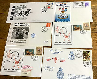 Job Lot Signed Of Raf First Day Covers Limited Edition
