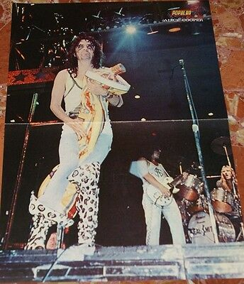 Alice Cooper Centerfold Poster 1974 Back Side Promo Ad Rolling Stones