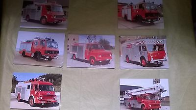 Collection of Seven Fire Engine Postcards of Norfolk Fire Service Appliances