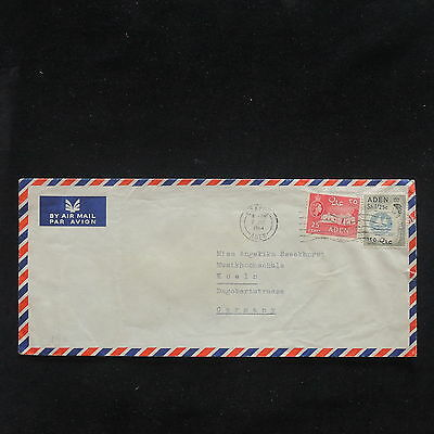 U/l363 - Aden: 1964 - Fine Cover - Ships - From Crater To Cologne - Airmail