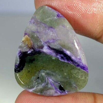 32.75Cts. Natural Royal Blue Charoite Fancy Cabochon Russian Loose Gemstones