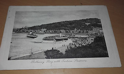 Used 1911 Ppc/postcard*turbine Steamer Ships In Rothesay Bay(Bute/scotland)