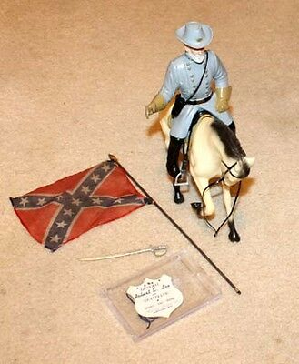 Vintage Hartland General Lee Rare Prancer Horse & Rider Set Original Tag & Flag