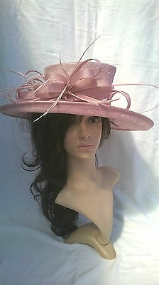Candy pink Hat.. .New.Wedding.Occasion races..formal hat.mother of the bride