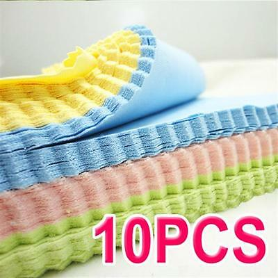 10Pcs Large Microfibre Glasses Camera Lens Spectacle Microfiber Cleaning Cloth