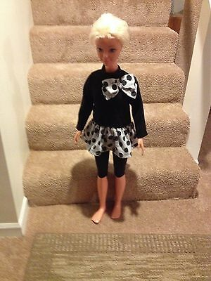 My Size Barbie Black And Grey 2-Piece Outfit