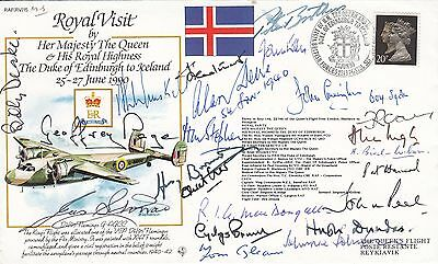 RV15 Royal visit to lceland HM The Queen Signed 22 Battle of Britain Pilots, Cre