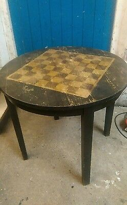 Vintage Round Chess Table