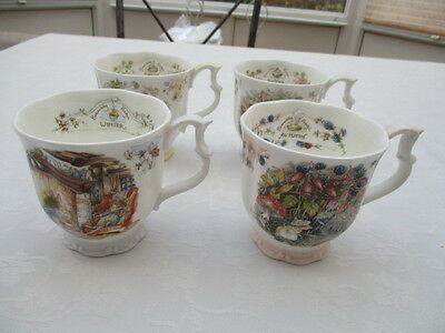 royal doulton brambly hedge 4 beakers seasons excellent condition