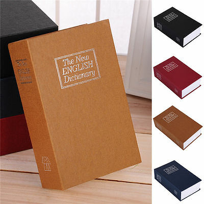 New Dictionary Book Cash Money Storage Safe Box With Security Combination Lock