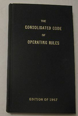 Vintage 1967 Consolidated Code Of Operating Rules Railroad Railway Rule Book