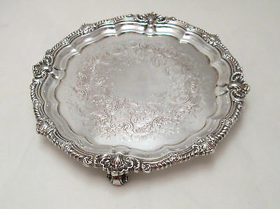 A Small Silver Plated on Copper Card Tray - Harrison & Howson