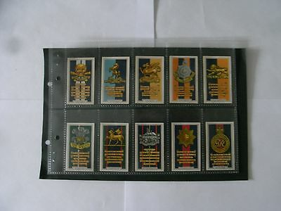 Full Set x 48 Cigarette Cards + Sleeves Gallaher Army Badges. 1939.