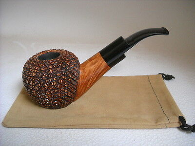 PIPE MARIO GRANDI LARGE BRIAR RUSTICATED WEIGHT.106gr.  FREE HAND NEW PIPES