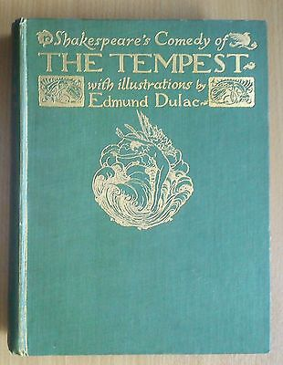 Shakespeare The Tempest Illustrations by EDMUND DULAC 1908 1st Edition LOVELY!