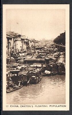 Very Early Canton,  China  Cigarette Card, Canton's Floating Population
