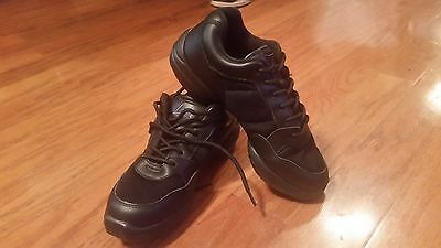 NEW Dance Sneakers Leos #418 Dance n Jam Black Hip Hop Lowtop Size 6