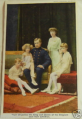 WW1 POSTCARD THE BELIGAN ROYAL HOUSE KING & QUEEN OF BELGIUM  R By TUCK No 8765