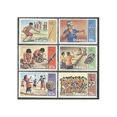 Tokelau 97-102,MNH.Michel 90-95. Traditional Games 1983.Shell throwing.