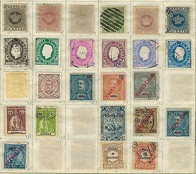Lot of Angola Old Stamps Used VF